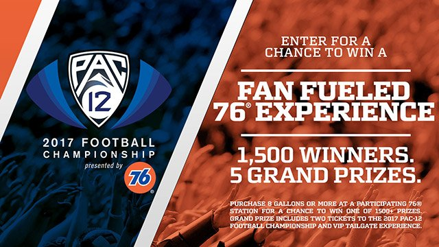 76 Pac-12 Football Championship Sweepstakes - Contest legal admin