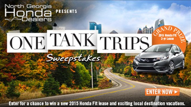 Honda: One Tank Trips Sweepstakes