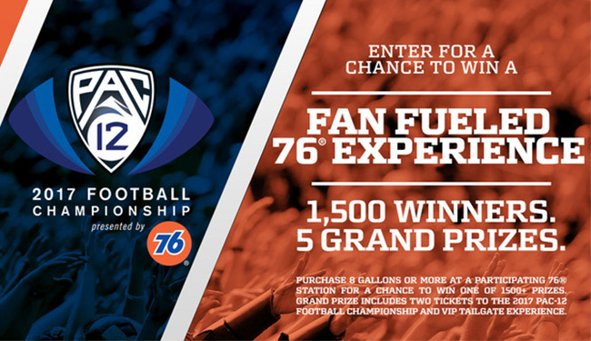 PAC12 Fan-Fueled 76 Experience